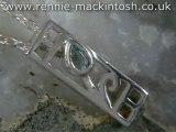 Sterling silver Charles Rennie Mackintosh necklace DWA310