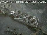 Sterling silver Charles Rennie Mackintosh necklace DWA311