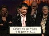 Voeux Manuel Valls Evry agglomération