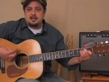 Fun blues/rock guitar lesson - inspired by Johnny Cash