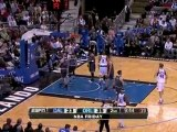 Jose Barea throws in a nice cross-over move on his way to an