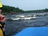 White Water Rafting in from inside raft
