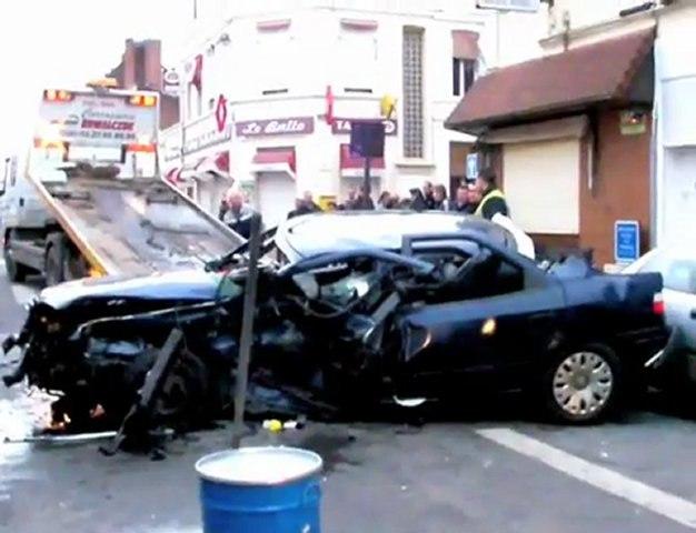 Violente collision à Douai