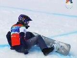 Vancouver Snowboarder Lindsey J. Crashes and Burns.