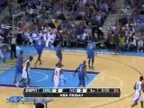 Dwight Howard blocks Darren Collison's shot during the first
