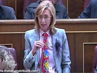 Rosa Díez cuenta chistes de gallegos en el Congreso
