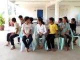Jeux de la chaise musicale pour la classe A.F.S., Battambang