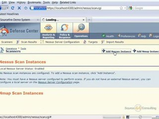 Adding a Nessus Instance to Sourcefire IPS Defense Center