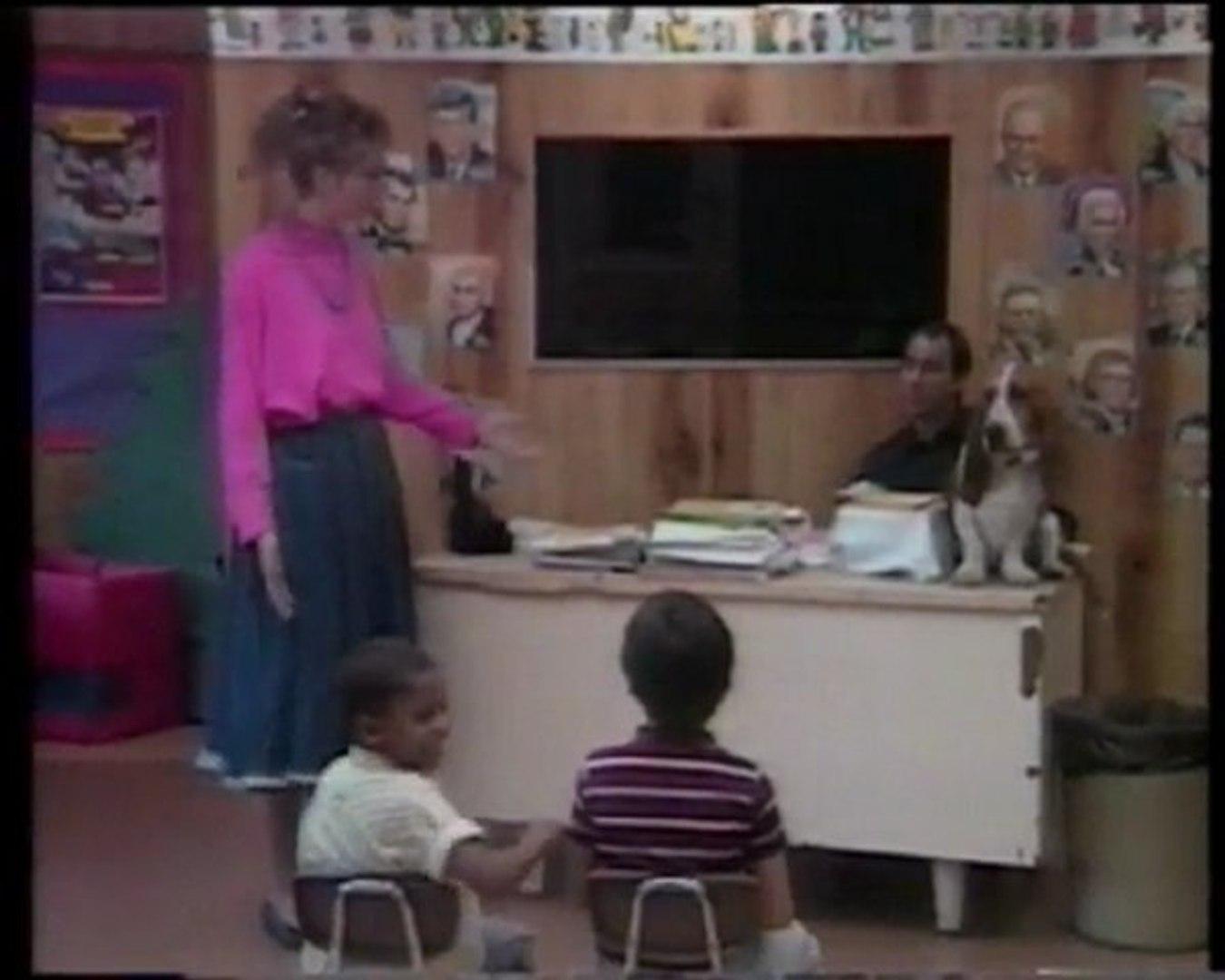 André Astor et Oscar à l'école