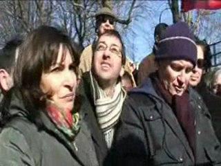Ballade militante Canal Saint Martin avec Anne Hidalgo