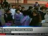 Estudiantes en Chile reinician parcialmente las clases