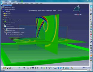 Simulation of a hard sound barrier