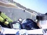 camera embarquee moto piste R1 le mans circuit BUGATTI