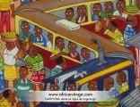 Peintures Africaines, toiles Africaines Cartoons
