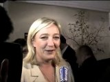 Marine le Pen à propos des instituts de sondages