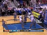 Two Magic players go up for the putback but Mickael Pietrus