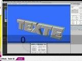 Tutos e-artsup : Zaxwerks After effects Texte 3D (avancé)