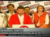 Colombia: Santos felicita a los suyos por triunfo electoral