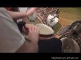 Nico : improvisation solo au djembé et doums (4)