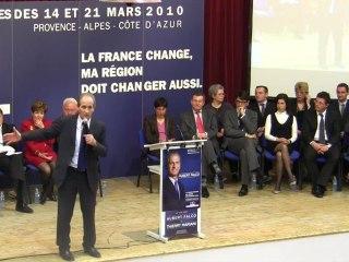 Régionales : Discours de Hubert Falco à La Valette du Var