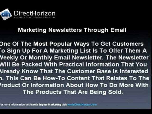 Search Engine Marketing | The Basics of Email Marketing. By
