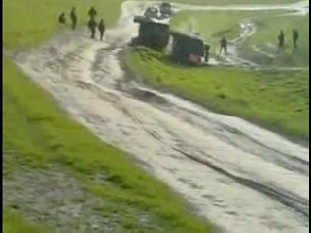 Deux blindés de l'armée belge se retournent en Afghanistan