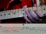 Blues guitar lick lesson with tabs