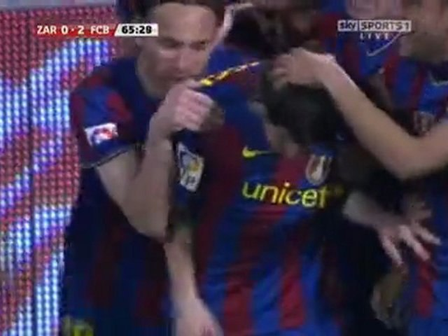 MESSI 0-2 REAL SARAGOSSE FC BARCELONE