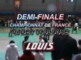 judo  Demi Finale Championnat France cadet toulouse LOUIS