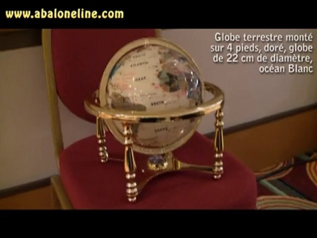 Globe 4 Pieds doré blanc