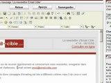 Présentation du logiciel Email-Cible - Gestion du message