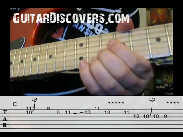 Blues Guitar Lick in C with TABS!