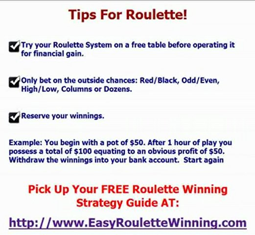 Tips For Roulette – Easy Ways To Cheat The Casino and Win At
