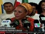 Piedad Córdoba considera positivas a las declaraciones de U