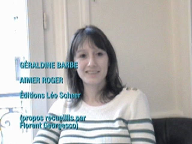 Entretien avec Géraldine Barbe