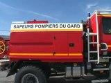 Force Ouvrière avec les pompiers du Gard
