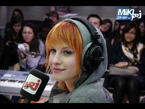 Paramore - the only exception en live sur NRJ chez MIKL