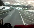 descente du mont blanc in the scania power