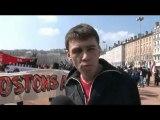 Le 10/4/10 Manifestation antifasciste à Lyon