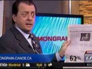 Mongrain et le 25% de coupures de publicité gouvernementale