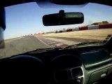 sortie de route en clio rs circuit de Ledenon janvier 2010