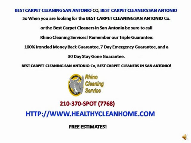 BEST CARPET CLEANING SAN ANTONIO, RHINO CLEANING SERVICE