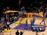 Derek Fisher finds Pau Gasol cutting down the lane for the d