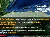 Seis periodistas asesinados en dos meses en Honduras