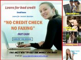 Instant decision loans for bad credit- small loans