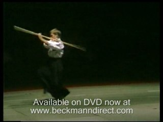 Martial arts weapons demonstrated, nunchuks, nunchaku, tonfa