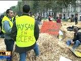 Manifestation des agriculteurs mardi à Paris