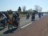 Départ course Solex et mob 6h de Bresdon(17) 2010