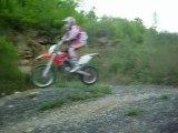 Moi sur Honda HM CRE sur petit saut