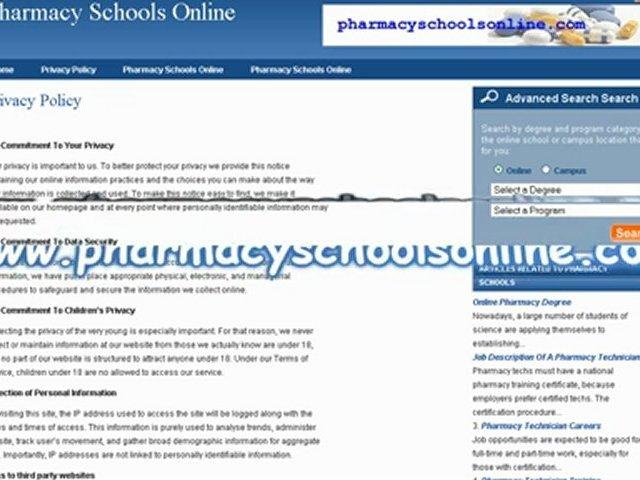 Pharmacy Schools Online
